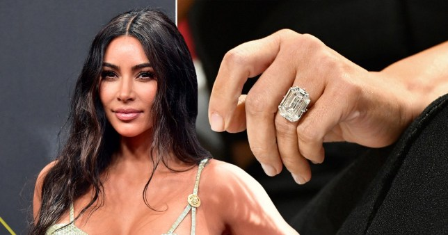 Kim Kardashian hasn't found stolen engagement ring as she poses with impressive replica