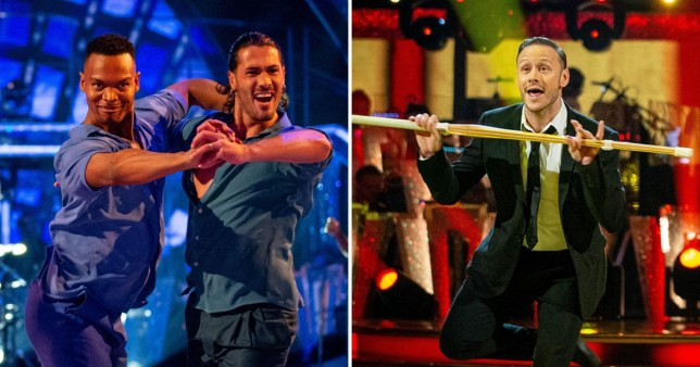 Kevin Clifton alongside Strictly same-sex routine