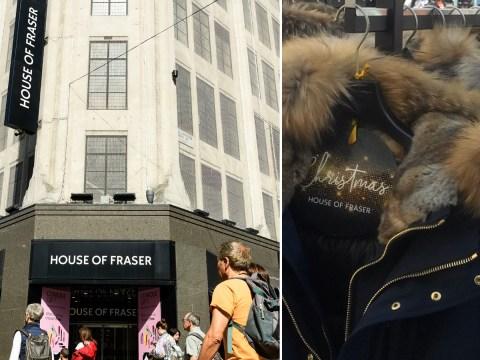 House of Fraser slammed after fur appears back on the shelves