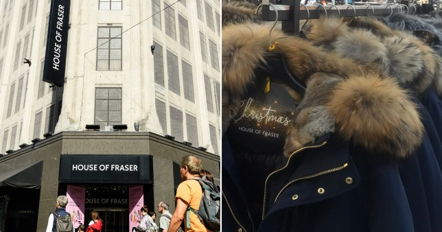 House of Fraser in fur storm