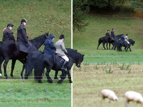 Queen shows support to Prince Andrew as they ride horses together in Windsor