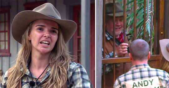 Nadine Coyle and Cliff on I'm A Celeb