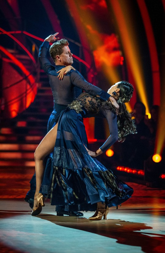 Mike Bushell and Katya dancing on Strictly