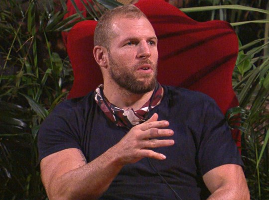 STRICT EMBARGO - NOT TO BE USED BEFORE 22:30 GMT, 24 Nov 2019 - EDITORIAL USE ONLY Mandatory Credit: Photo by ITV/REX (10484044hm) Decisions and Tensions - James Haskell 'I'm a Celebrity... Get Me Out of Here!' TV Show, Series 19, Australia - 24 Nov 2019