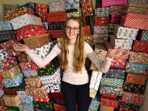 Teen makes more than 1,000 Christmas gift boxes for children in Bulgaria