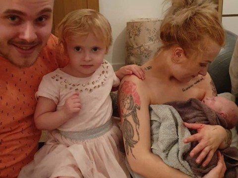 Mum recalls the dramatic moment she delivered her own baby on her bedroom floor