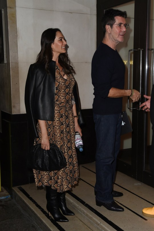 Simon Cowell, Lauren Silverman seen at Sony studios