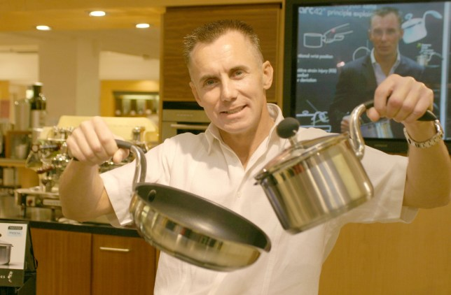 Gary Rhodes during Gary Rhodes - Cookware Launch And Photocall at Harrods in London, Great Britain. (Photo by Ferdaus Shamim/WireImage)