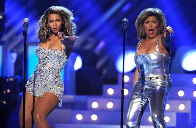 Beyonce and Tina Turner