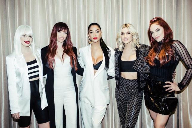 Pussycat Dolls Kimberly Wyatt, Jessica Sutta, Nicole Scherzinger, Ashley Roberts and Carmit Bachar