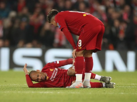 Liverpool fear Fabinho could miss six weeks of action to injury