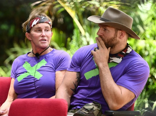 STRICT EMBARGO - NOT TO BE USED BEFORE 22:30 GMT, 20 Nov 2019 - EDITORIAL USE ONLY Mandatory Credit: Photo by James Gourley/ITV/REX (10487827g) Bushtucker Trial, Sickening Cinema - Caitlyn Jenner and James Haskell 'I'm a Celebrity... Get Me Out of Here!' TV Show, Series 19, Australia - 29 Nov 2019
