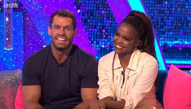 Kelvin Fletcher and Oti Mabuse on Strictly It Takes Two.