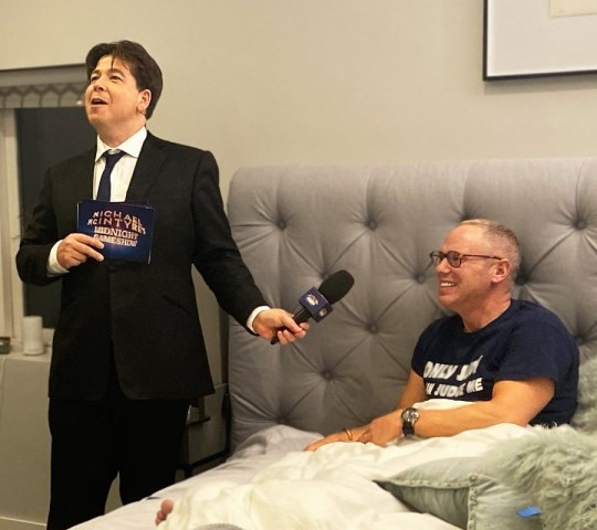 Programme Name: Michael McIntyre's Big Show S5 - TX: n/a - Episode: Michael McIntyre's Big Show S5 (No. 2) - Picture Shows: Michael McIntyre, Judge Robert Rinder - (C) Hungry Bear - Photographer: _