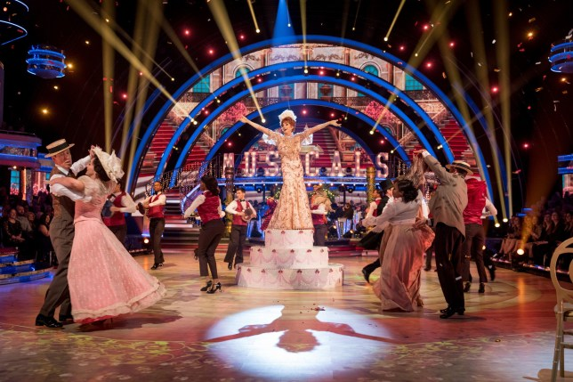 the strictly come dancing ensemble performance during musicals week