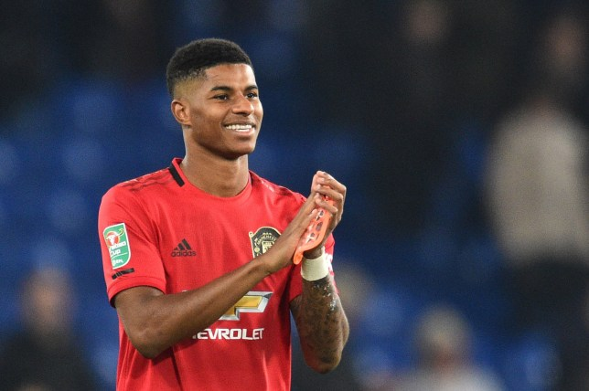Marcus Rashford is battling to recover from a knee injury for Manchester United's trip to Bournemouth