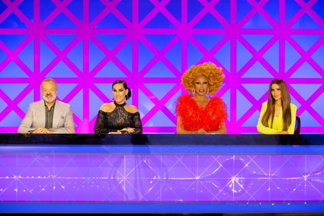 Garaham Norton, Michelle Visage, RuPaul and Cheryl