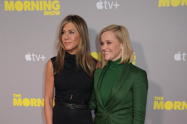 Jennifer Aniston and Reese Witherspoon at the launch of The Morning Show