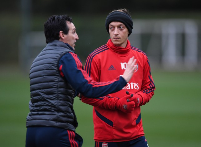Arsenal manager Unai Emery says Mesut Ozil is in contention to start against Wolves