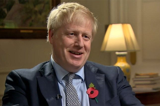Boris Johnson, ITV News interview 01.11.19 (Picture: ITV)