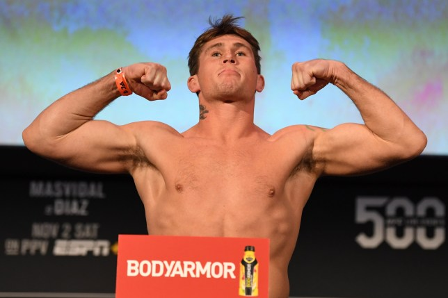 NEW YORK, NY - NOVEMBER 01: Darren Till of England poses on the scale during the UFC 244 weigh-ins at the Hulu Theatre at Madison Square Garden on November 1, 2019 in New York, New York. (Photo by Josh Hedges/Zuffa LLC via Getty Images)