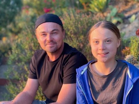 Leonardo DiCaprio finally meets Greta Thunberg and calls her a 'leader of our time'