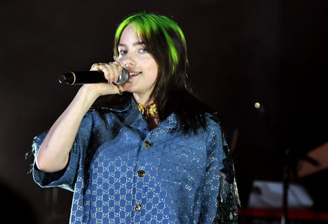 LOS ANGELES, CALIFORNIA - NOVEMBER 02: Billie Eilish, wearing Gucci, speaks onstage at the 2019 LACMA Art + Film Gala Presented By Gucci at LACMA on November 02, 2019 in Los Angeles, California. (Photo by Emma McIntyre/Getty Images for LACMA)