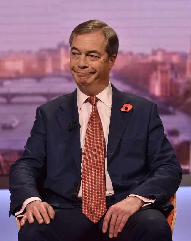 Nigel Farage won't be standing as candidate in General Election