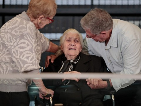 Holocaust survivors meet their saviour 75 years after she hid them from Nazis