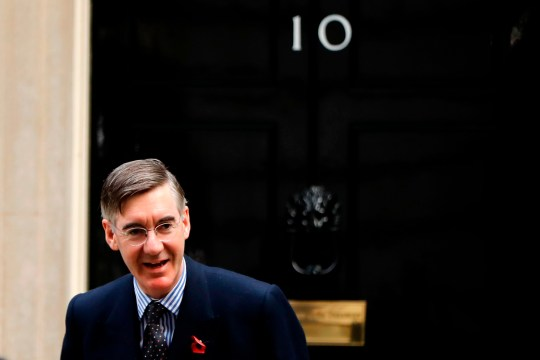 Britain's Leader of the House of Commons Jacob Rees-Mogg arrives in Downing Street in central London on November 5, 2019 for a meeting of the cabinet. (Photo by Tolga AKMEN / AFP) (Photo by TOLGA AKMEN/AFP via Getty Images)