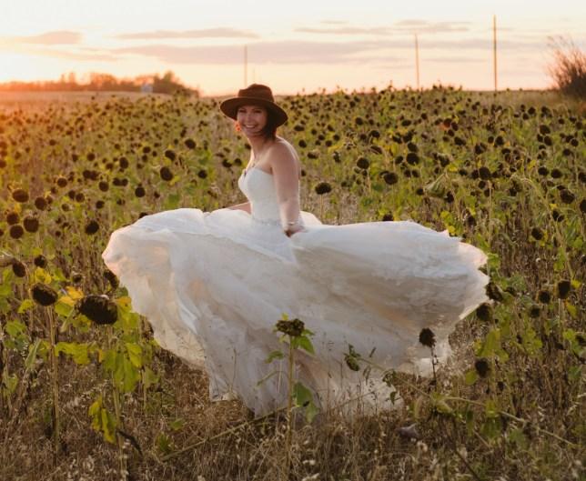 Vanessa Lanktree pictured in her wedding dress in 2019