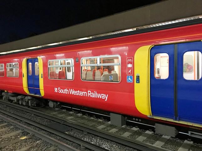 A South Western Railway train