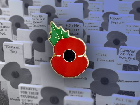 Where to buy metal poppy pin badges and are they sanctioned by Royal British Legion?