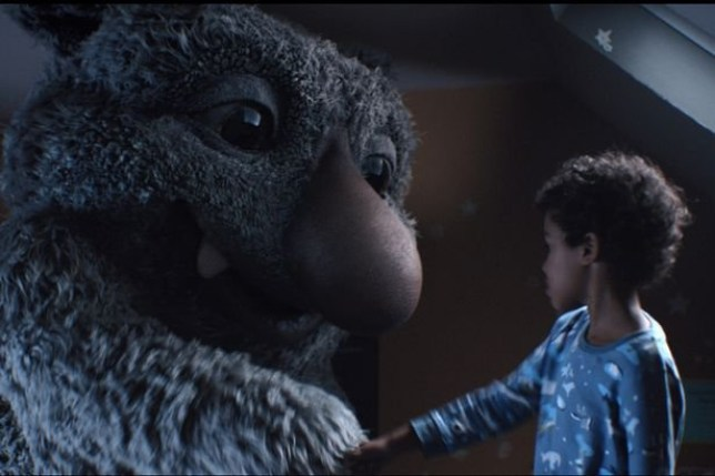 moz the monster from the John Lewis Christmas advert