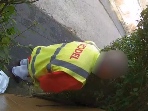 Delivery driver 'caught peeing on customer's gate'