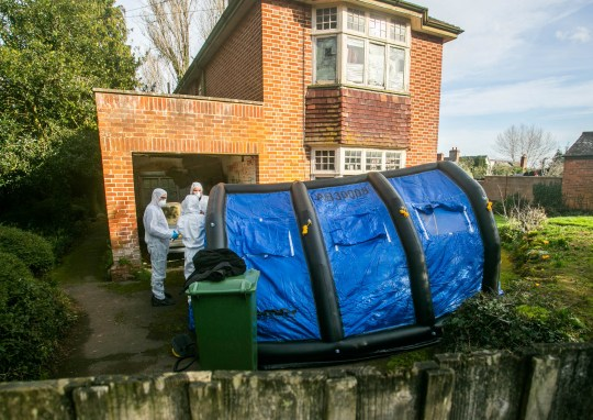 Police are investigating at an address in Cowick Lane in Exeter, Devon, where the bodies of two men, were found on tuesday (12/2). February 13, 2019. See SWNS story SWPLmurders. Polo-playing former public schoolboy Alexander Lewis-Ranwell is set to appear in court charged with murder of three OAPs. The murder investigation was initially launched after paramedics found the body of a man, aged 80, inside a property on Bonhay Road near St David's railway station on Monday afternoon. And later the bodies of two other men, named locally as twins Dick and Roger, both 84, were found inside a large house on Cowick Lane.