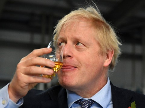 Boris sips whiskey hours before promise not to drink alcohol until after Brexit