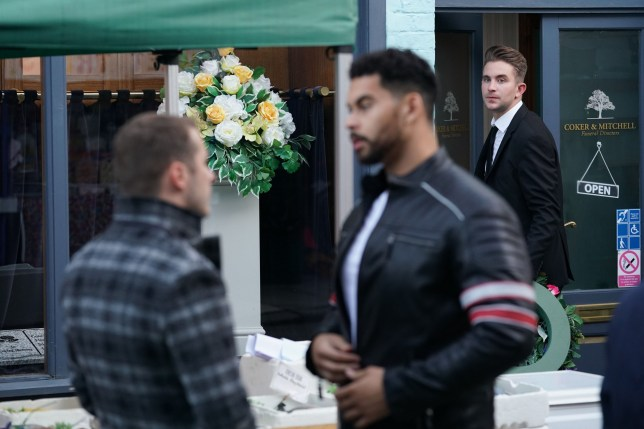 WARNING: Embargoed for publication until 00:00:01 on 12/11/2019 - Programme Name: EastEnders - October - December 2019 - TX: 21/11/2019 - Episode: EastEnders - October - December - 2019 - 6027 (No. 6027) - Picture Shows: *STRICTLY NOT FOR PUBLICATION UNTIL 00:01HRS TUESDAY 12TH NOVEMBER 2019* Ben Mitchell (MAX BOWDEN), Tubbs (TAYLA KOVACEVIC-EBONG), Callum Highway (TONY CLAY) - (C) BBC - Photographer: Steve Peskett