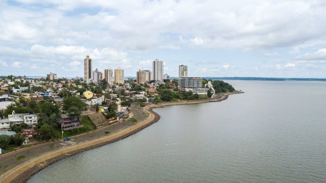 Panoramic view of the city of Posadas. Missions. Argentina.