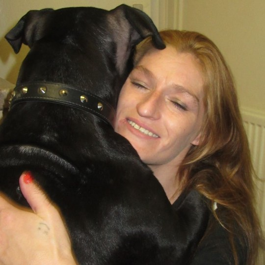 Sonya Wadsworth (with Tyson the dog) who was convicted of training her dog as a ''weapon'' to maul an Asian shopkeeper during a racist attack after she was accused of shoplifting at his grocery store