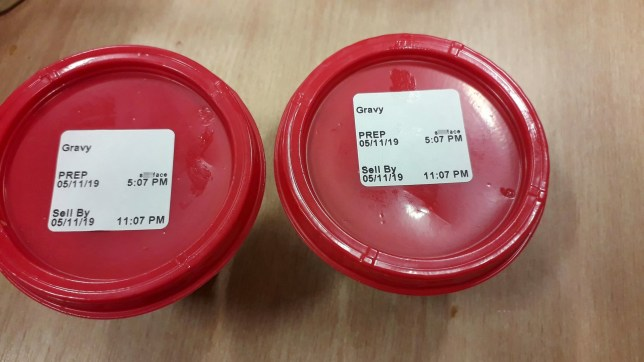 The offending gravy pot labels (censored). Father Karl Francis Cooper, 38, was shocked when his order of chicken wings from fast food restaurant KFC came with the word 's***face' written across the tops of his gravy pots! See SWNS story SWSYkfc. A dad got into a flap when he bought KFC chicken wings - and saw the word 's***face' written across the tops of his gravy pots. Karl Francis Cooper - whose initials spell 'KFC' - popped into a nearby branch while on his lunch break last week to pick up some grub. After waiting around 30 minutes for his ?8 order, civil enforcement officer Karl rushed back to the office with his meal and sides of gravy. The 38-year-old was shocked to find stickers with the word 's***face' printed on both gravy pot lids, just as he was about to tuck into his lunch.