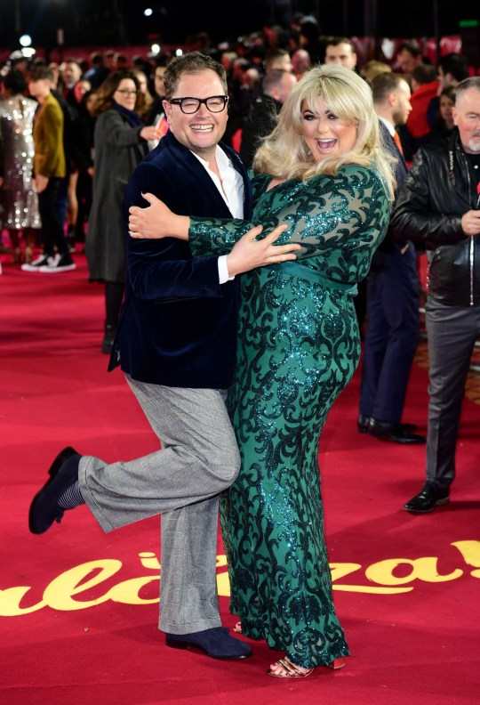 Alan Carr and Gemma Collins arriving for the ITV Palooza held at the Royal Festival Hall, Southbank Centre, London. PA Photo. Picture date: Tuesday November 12, 2019. See PA story SHOWBIZ ITV. Photo credit should read: Ian West/PA Wire