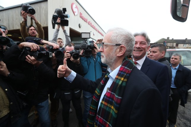 Labour Party leader Jeremy Corbyn during a visit to the Heart of Scotstoun Community Centre in Glasgow, during General Election campaigning. PA Photo. Picture date: Wednesday November 13,2019. See PA story POLITICS Election. Photo credit should read: Andrew Milligan/PA Wire