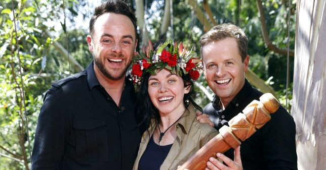 Mandatory Credit: Photo by Nigel Wright/ITV/REX (7542994b) Winner of I'm a Celebrity... Get Me Out of Here! 2016 Scarlett Moffatt with Anthony McPartlin and Declan Donnelly 'I'm a Celebrity...Get Me Out of Here!' TV Show, Australia - 04 Dec 2016