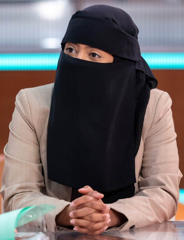 """Editorial use only Mandatory Credit: Photo by Ken McKay/ITV/REX (9854361bj) Sahar Al-Faifi 'Good Morning Britain' TV show, London, UK - 04 Sep 2018 Boris Johnson caused outrage by claiming Muslim women wearing burkas """"look like letter boxes"""" and comparing them to """"bank robbers"""" BUT he said full-face veils should not be banned. Now his sister has slammed her brothers comments as not going far enough. Rachel says """"I'd go along with the Danes, and France, Belgium, Bulgaria and Austria, in banning them. These countries are not imposing a ban they are lifting one on the rights of women to feel the sun on their skin, the water on their bodies, and for their children to see their mothers' full faces in the street."""" Earlier this month Sahar Al-Faifi told Good Morning Britain that the former Foreign Secretary's comments were """"dehumanising"""" and fuelled hate crime. """"He has the right to freedom of expression but not hate and bigotry"""" she told Kate and Ranvir. Sahar also mentioned that someone she knew had their niqab pulled off and described it as a """"sexual assault""""."""