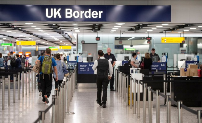Mandatory Credit: Photo by REX (9945432ai) A behind the scenes look at UK Border Force staff and their role at Heathrow Airport, London Border force, Heathrow Airport, London, UK - 18 Jul 2018