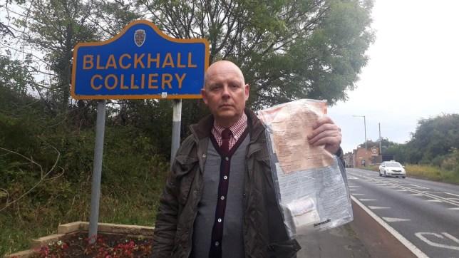 Someone keeps leaving cash bundles of £2,000 around a village