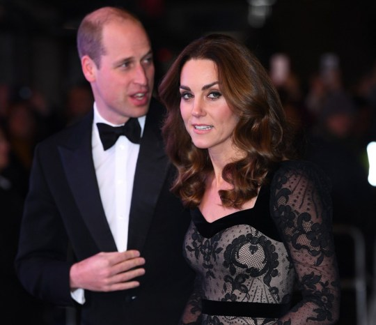 Mandatory Credit: Photo by David Fisher/REX (10478626c) Kate Duchess of Cambridge and Prince William The Royal Variety Performance, Arrivals, London Palladium, UK - 18 Nov 2019