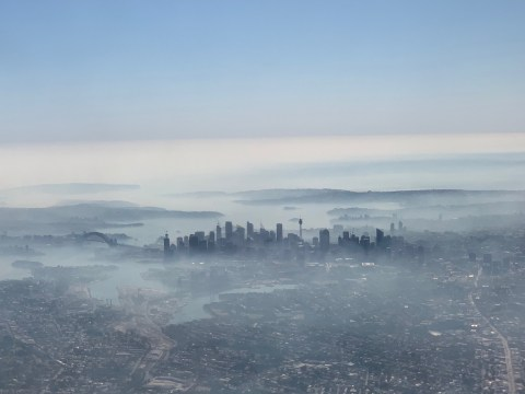 Sydney skyline shrouded in smoke from Australia's raging wildfires
