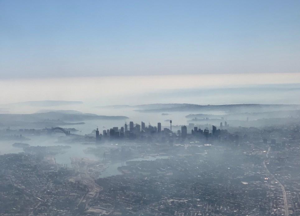 Smoke haze blanketing Sydney, Australia, November 19, 2019